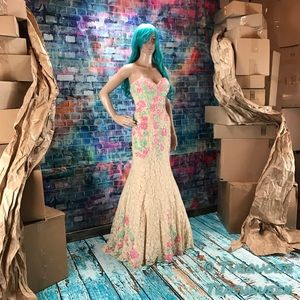 RACHEL ALLEN Floral Lace Gown! GORGEOUS! #6813